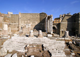 Forum of Augustus with Temple of Mars. Rome, Italy. poster