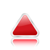 red triangle icon 2 poster