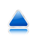 blue triangle icon poster
