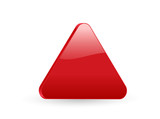 red triangular 3d icon 2 poster