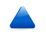 blue triangular 3d icon 2 poster