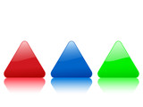 triangular color icon poster