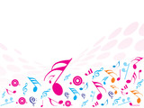 illustration of Musical Notes. ideal for background! poster