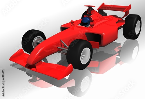 Spoed canvasdoek 2cm dik Cars Ferrari F1 - highly detailed illustration