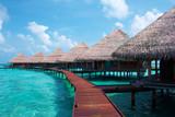 Water Villas in The Ocean. Maldives. - 6518009
