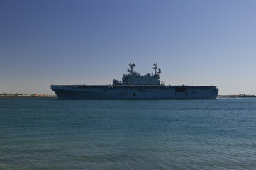 Aircraft Carrier Returning from Sea