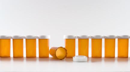 Pill Bottles in a Row