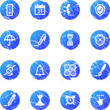 blue grunge software icons poster
