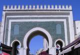 puerta verde medina de fez poster