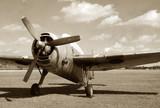 World War II era fighter poster