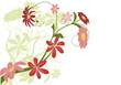 vecteur série - design floral fleurs au printemps
