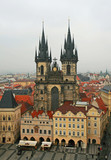 aerial view of Old Town Square neighborhood in Prague poster