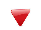 red triangular 3d icon poster