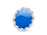 3D blue vector badge with contour poster