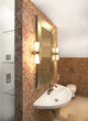 Bathroom interior in modern home