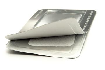 Little napkin in silver package
