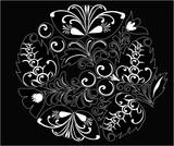 floral decoration sketch poster