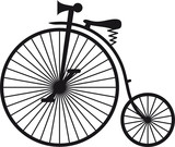 High wheel bicycle poster