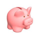 Fototapety 3d pig a coin box of pink color