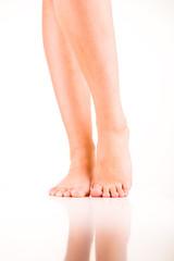 Beine von Frau von vorne