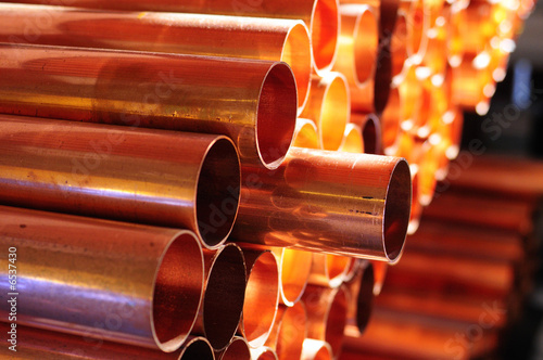 Leinwanddruck Bild Copper Tube