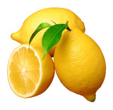 Fototapety lemon; object on a white background