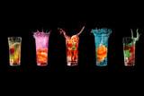Five colourful cocktials