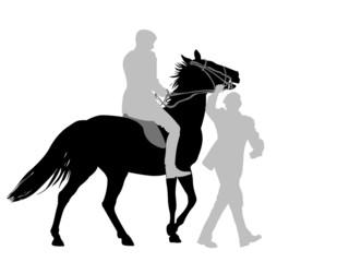 horse  training silhouette