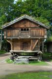 norwegian log house poster