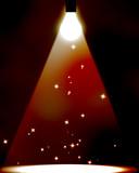 Lightbulb spotlight poster
