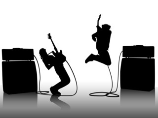 Jumping Guitar players