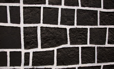 Black White Square Wall Mexico