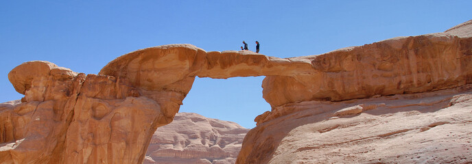 Arco nel desrto di Wadi Rum