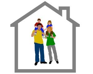 junge familie - eigenheim