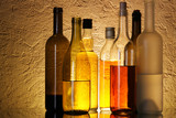 Bottles of alcoholic beverages poster