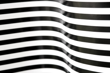 black and white stripes curving 2