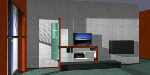 wall unit, light & shadows