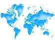 Carte Monde Deep Blue