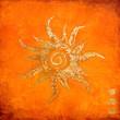 Leinwandbild Motiv gemalte Sonne