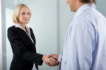 busineswoman handshake