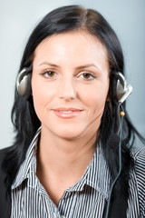 attractive customer support  woman