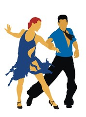 Man and woman dancing mambo