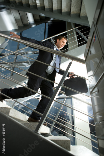businessman in a rush