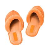 Orange slippers poster