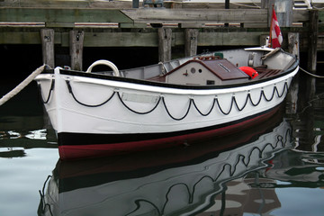 Small White Boat