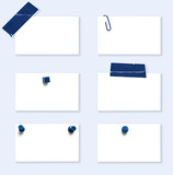 White Labels with Blue Fasteners poster