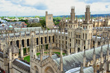 Oxford University All Souls College Spires and Courtyard poster