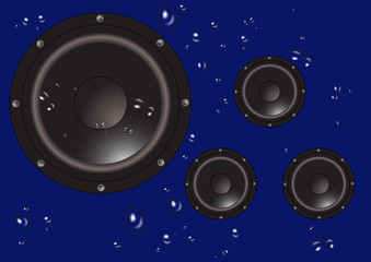 Splashed Speakers