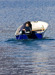 Barca con falla