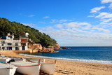 Boats on the beach at Tamariu (Costa Brava, Spain)